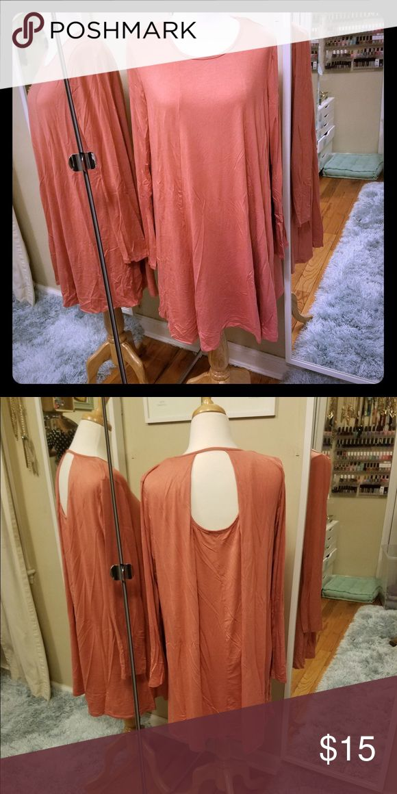 Orangey mango colored keyhole trapeze dress Never worn, tags attached! Most of what I'm listing is stuff I've waited too long to return so most items have tags! Those that don't are still gently used if used at all. Thanks for looking! Charlotte Russe Dresses
