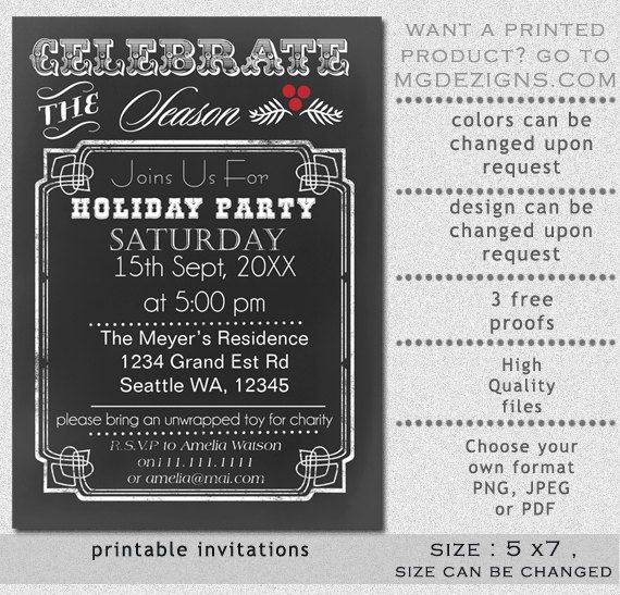 262 best Invites \ Announcements images on Pinterest Weddings - chalk board invitation template