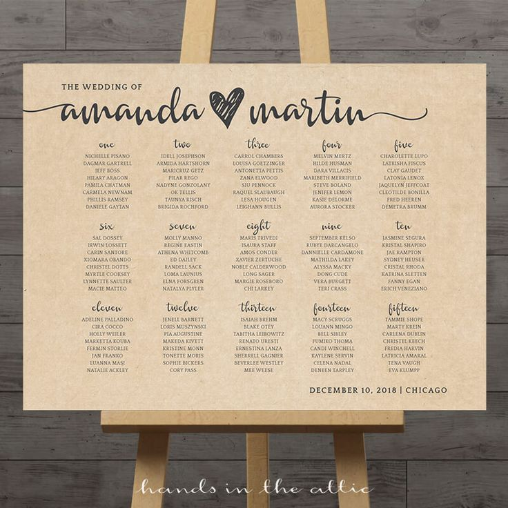 Our Kraft Wedding Seating Chart is a popular style for rustic weddings. The first image shows the seating plan arranged by table number, while the second image shows an alphabetical arrangement. The choice is yours! Extra Notes The background of this printable is kraft brown, so printing on white paper is recommended. If you prefer a white background instead, let me …