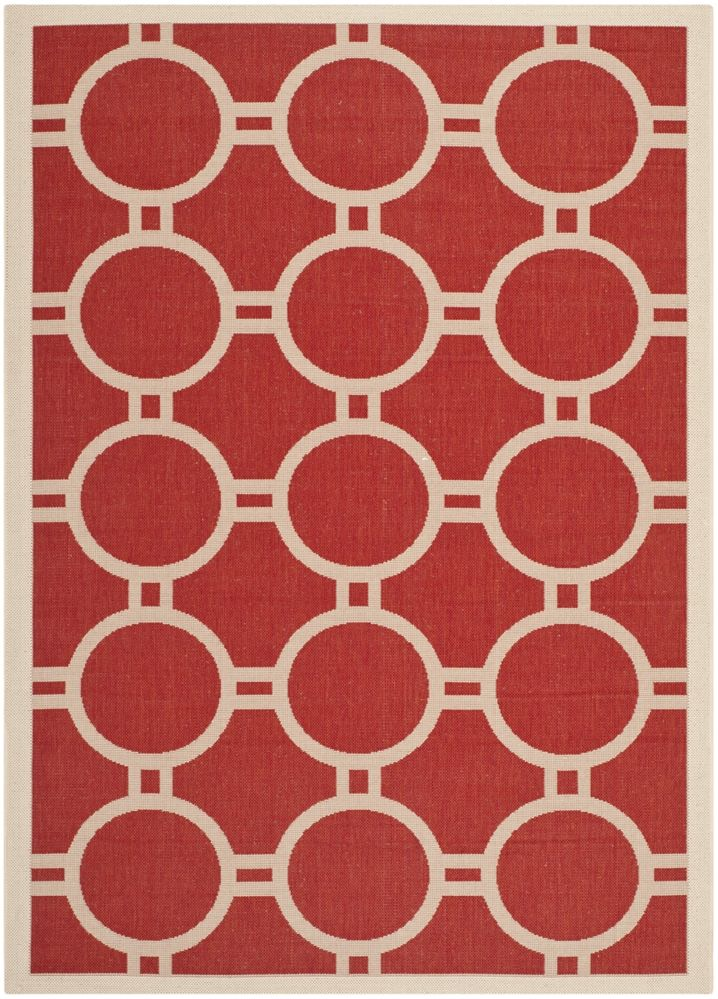 Safavieh - Safavieh Courtyard CY6924-248 Red - Bone Area Rug #100513