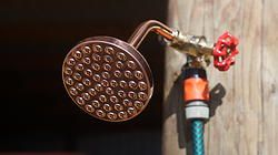 Alfresco Ezi Shower Kit by Heritage Bathware. Low cost option for an outdoor shower