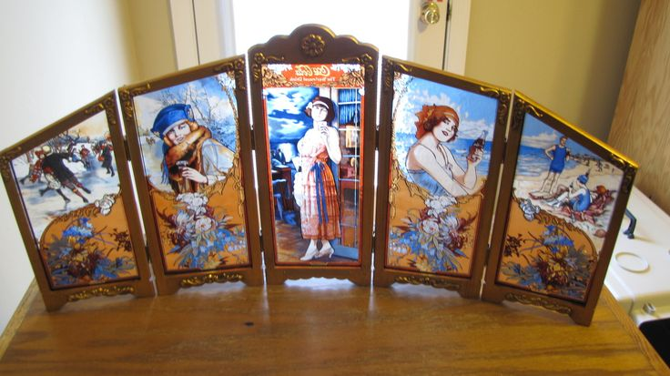Coca Cola Four Seasons 5 stained glass panels - 1986 | Collectors Weekly
