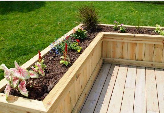 L Shaped Deck Planter Home Ideas Pinterest Deck