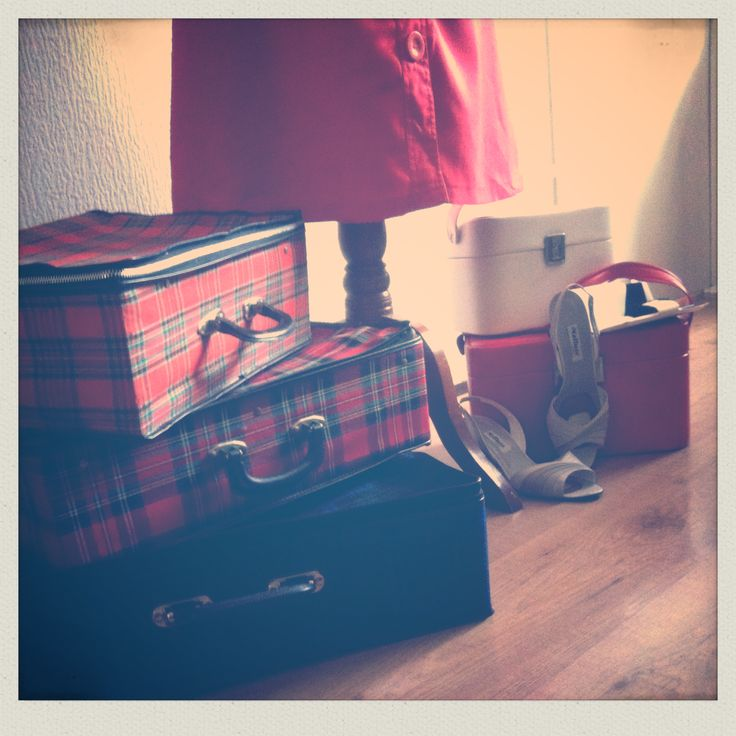 tartan suitcases