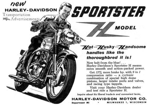 harley davidson vintage ad