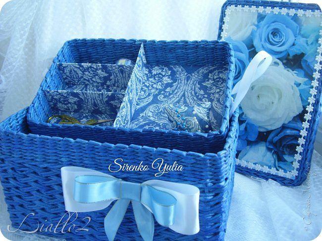 Куклы Поделка изделие Плетение Шитьё Коробочка для рукоделия и  Ткань Трубочки бумажные фото 1