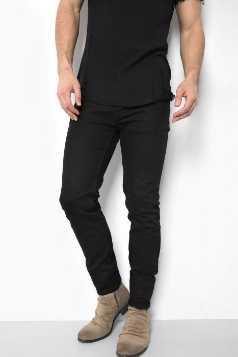 Super Slim Fit Jeans MORTEN in schwarz für Herren -1