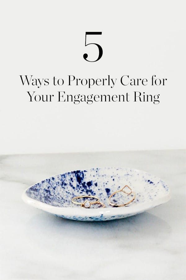 5 Ways to Properly Care for Your Engagement Ring via @PureWow