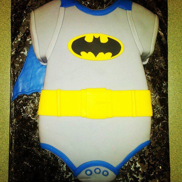 batman onesie baby shower cake cakes my sister and i have made