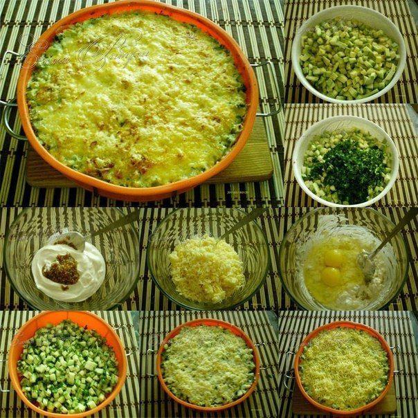 Кабачки, запеченные с сыром- нежнейшая запеканка   Четыре вкуса