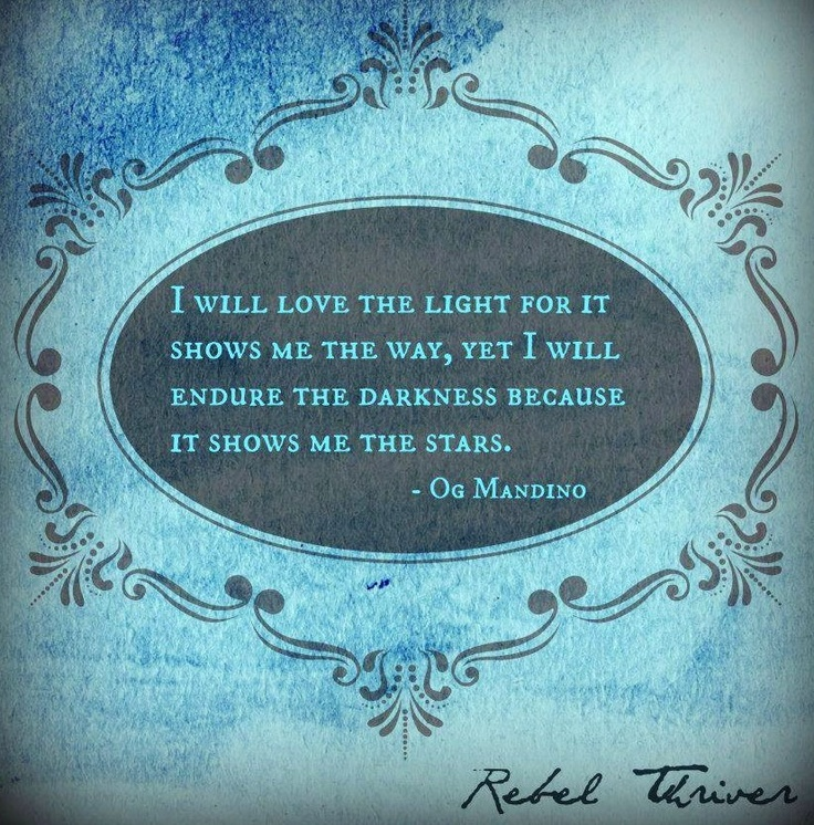 Light Vs Darkness And Stars Quote