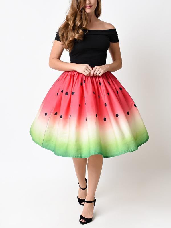 2c91ff9ce Women's Cute Big Swing Skirts in 2019 | holiday stuff | Fashion ...