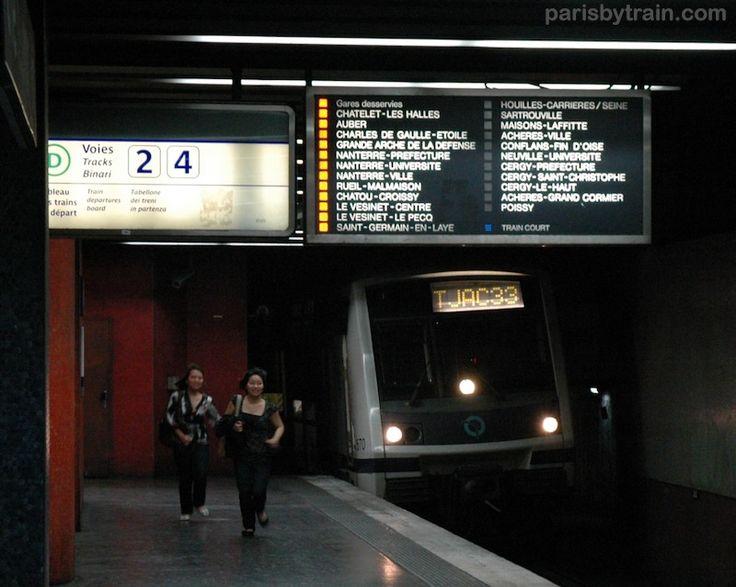 RER A Station Panel Direction Poissy, Cergy-Le Haut