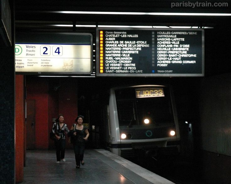 RER A Station Panel Direction Poissy, Cergy-Le Haut