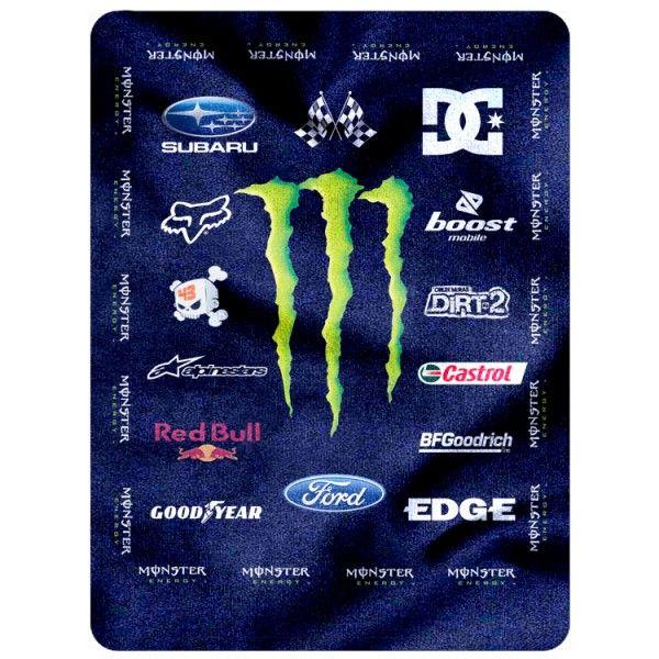 """Monster Energy New Blanket 58"""" x 80""""  (Large) code 1102"""