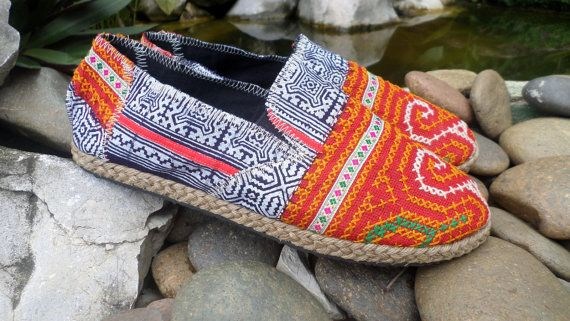 Womens Boho Boots In Colorful Vintage Ethnic by SiameseDreamDesign