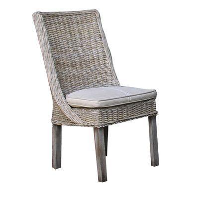 Panama Jack Sunroom Exuma Side Chair with Cushion Upholstery: Bahamian Breeze Cinnamon