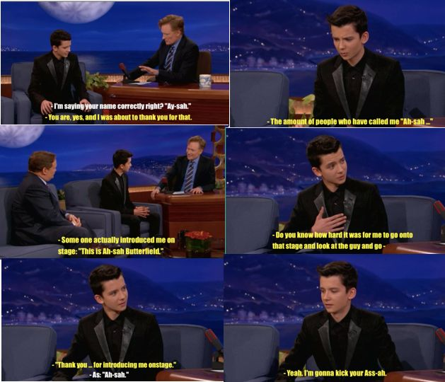 asa butterfield on conan, oh he's so adorable!
