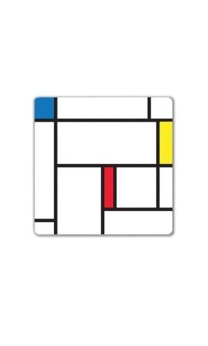 Pizarrón magnético decorativo de borrado en seco. Cuenta con poderosos magnetos que lo mantienen fijo a cualquier superficie metálica. Incluye un marcador con borrador. Su diseño está inspirado en la obra del artista de vanguardia, Piet Mondriaa ......