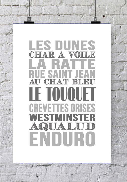 Affiche Bord de mer «Le Touquet»