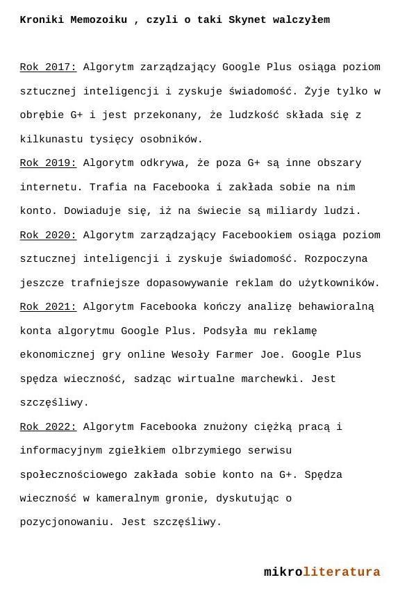 #Google #Facebook #fantastyka #sf #sztucznainteligencja #futurystyka #pozycjonowanie #humor