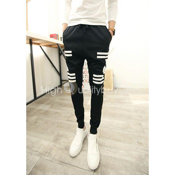 Jogging Sweat Pants_  R$39.36_Fashion Casual Cotton Men's Hip Hop
