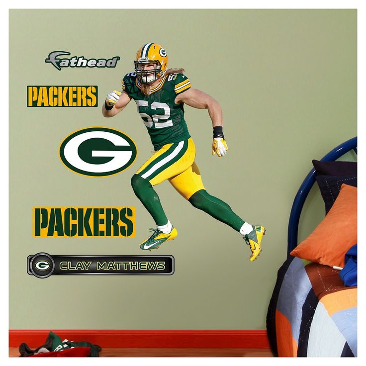 Decorative Wall Art Set Fathead 40 X 3 X 3 Green Bay Packers