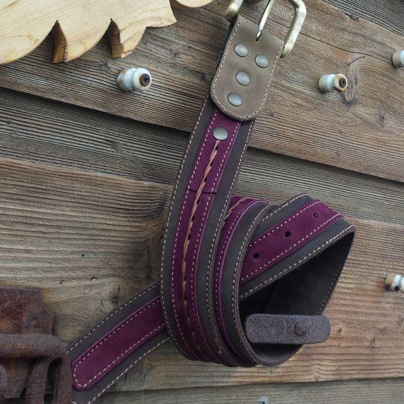 Cintura in pelle artigianale handmade. di AlePiller su Etsy