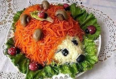 Салат Ежик #рецепты #готовим