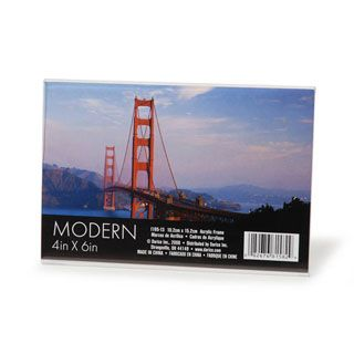 acrylic frameless picture frames stand up 4x6 inch horizontal frame