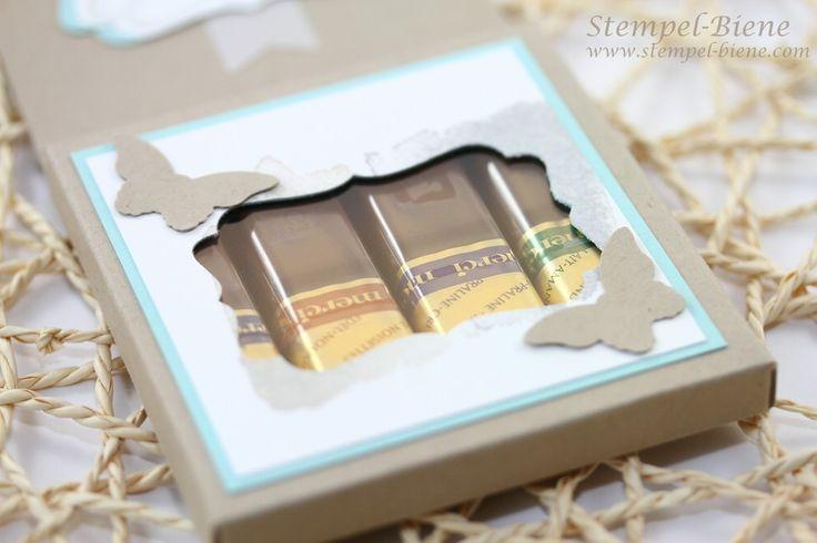 anleitung f r eine merci verpackung schokoladenverackung mit stampin up papierschneider basteln. Black Bedroom Furniture Sets. Home Design Ideas