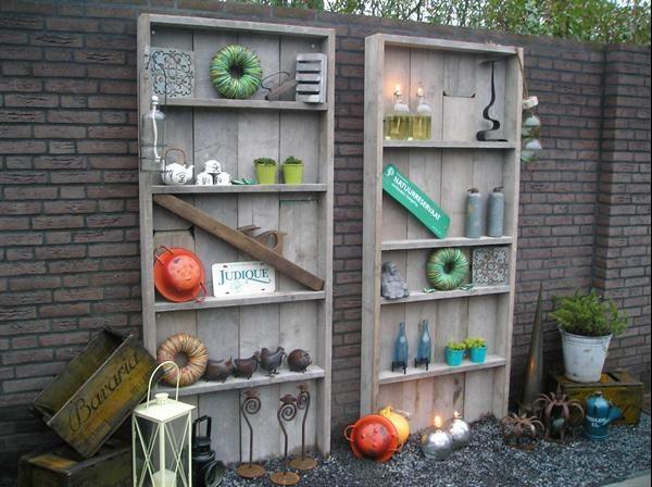 Kast tuinKast boekenKast Steigerhout Dadodesign Kopen   Tuinmeubelen