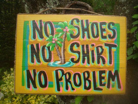 Playa cabaña tropical Tiki Bar piscina Patio Margarita No zapatos sin camisa, sin placa de señal de problema