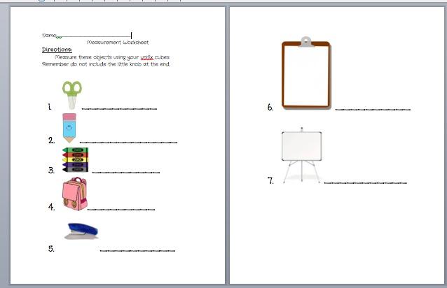 Measurement worksheets, Worksheets and Cubes on Pinterest