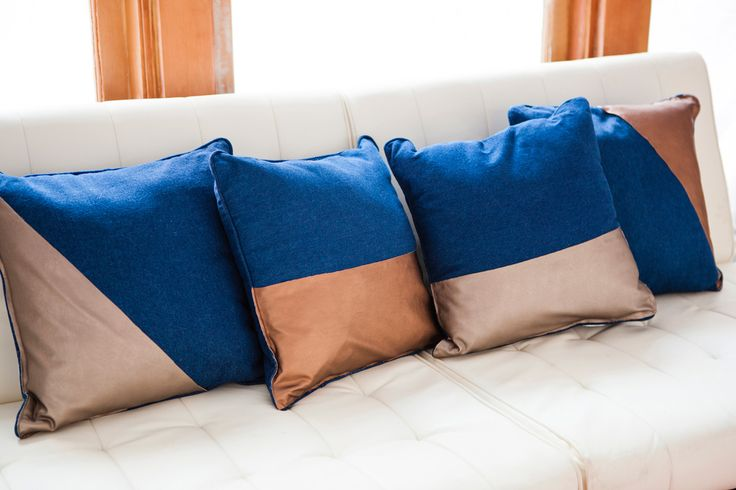 Make These Chic $180 Pillows for Under $20 (Bonus: They're No-Sew!) | @Brit Morin Morin #DIY