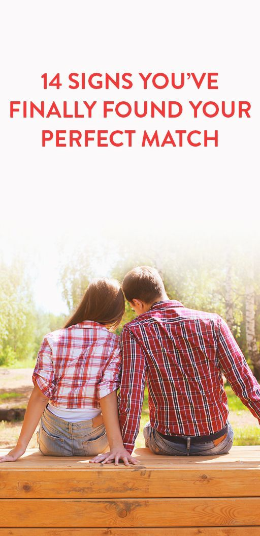 14 sings you've found your perfect match