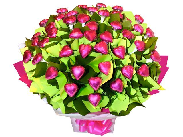 Four Dozen Hearts Chocolate Bouquet