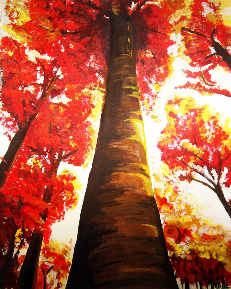 25+ Best Ideas About Fall Tree Painting On Pinterest