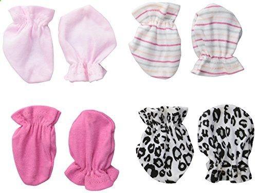 BON BEBE Baby Girls Newborn Pack Animal Print Mitten Set Multi New Born. Check website for more description.