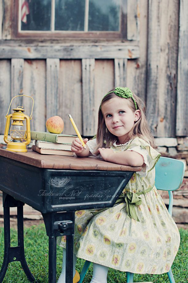 the MomTog diaries: Ella Goes to Kindergarten: A Vintage Back to School Styled Photo Shoot {greensboro nc childrens photographer}