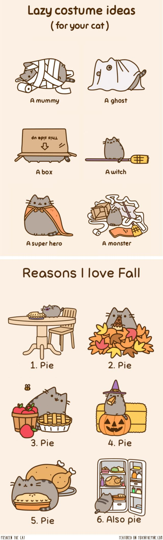 Pusheen loves fall