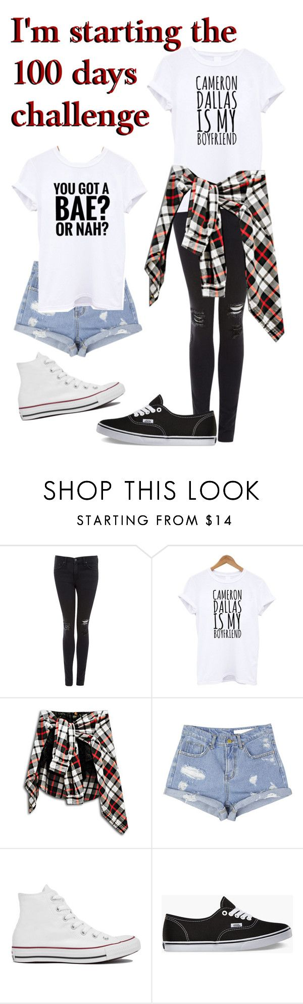 """""""Starting the 100 days challenge"""" by roxouu ❤ liked on Polyvore featuring rag & bone/JEAN, Converse, Vans, women's clothing, women, female, woman, misses and juniors"""