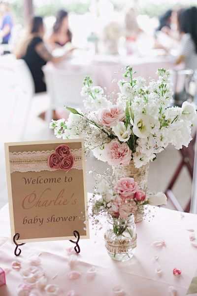 """Project Nursery - BABY SHOWER 4 ~""""or wedding shower. Love the delicate flower."""""""