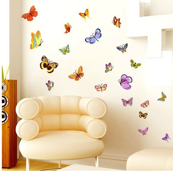 Best Butterfly Wall Decals Images On Pinterest Butterfly - Vinyl wall decals butterflies