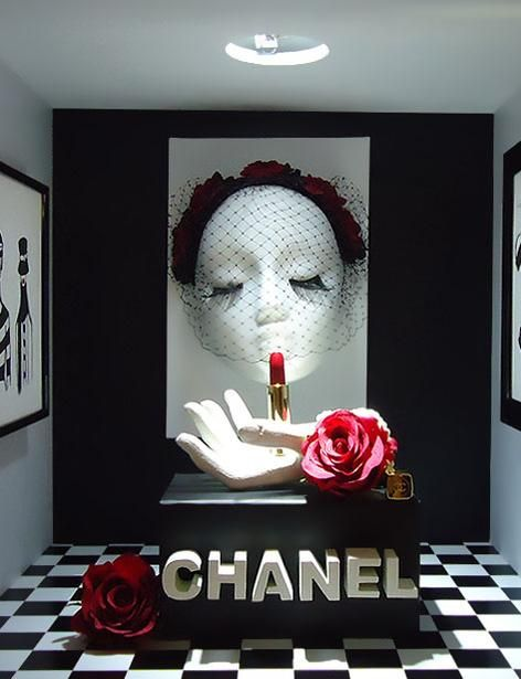 CHANEL display by Group A students of Artidi, pinned by Ton van der Veer
