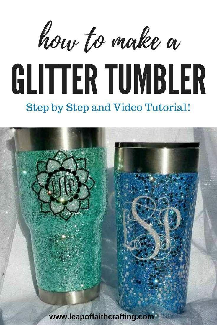 Glitter tumbler diy tutorial youll love from start to