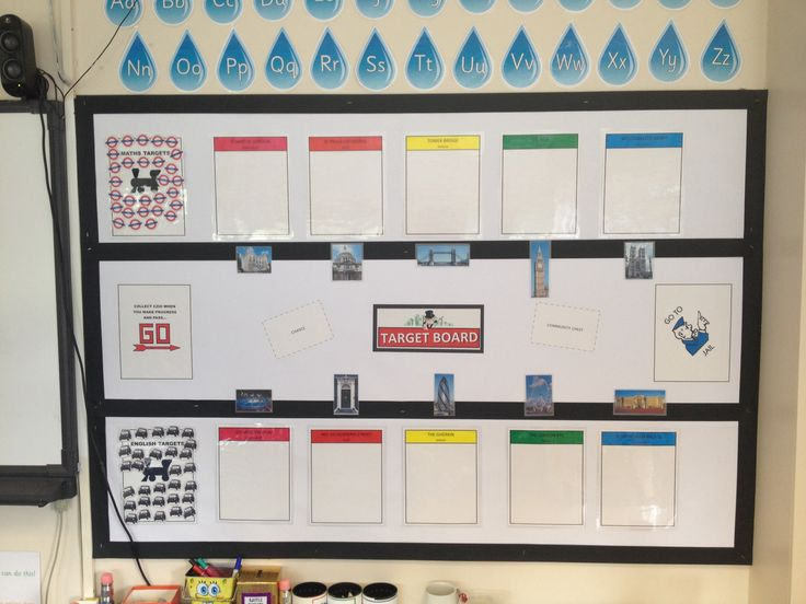 School Classroom Decor Games : Monopoly themed target board maths english theme