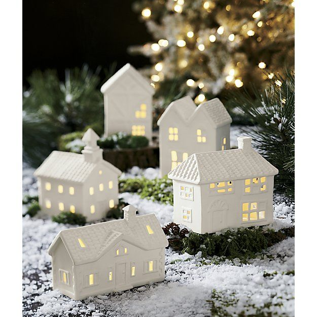 Free Shipping Shop White Ceramic Ranch House Fill These