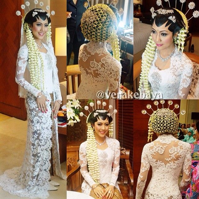 Javanese Wedding-pure white- bride looks great with jasmine headdress