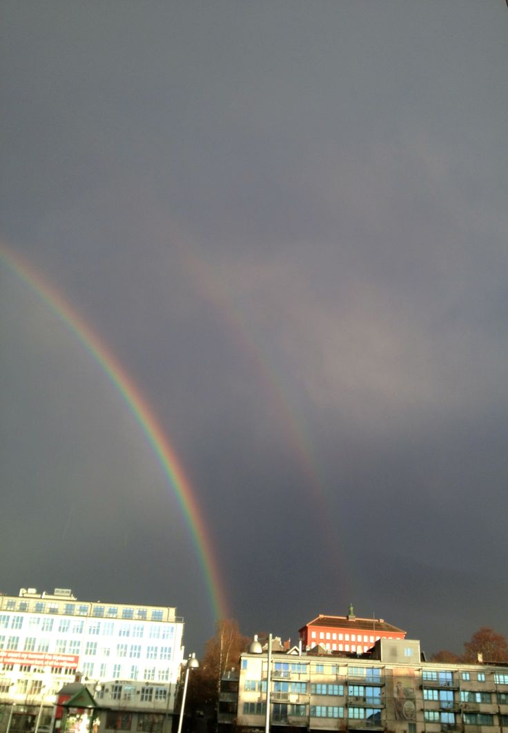 Dobbel regnbue i Trondheim